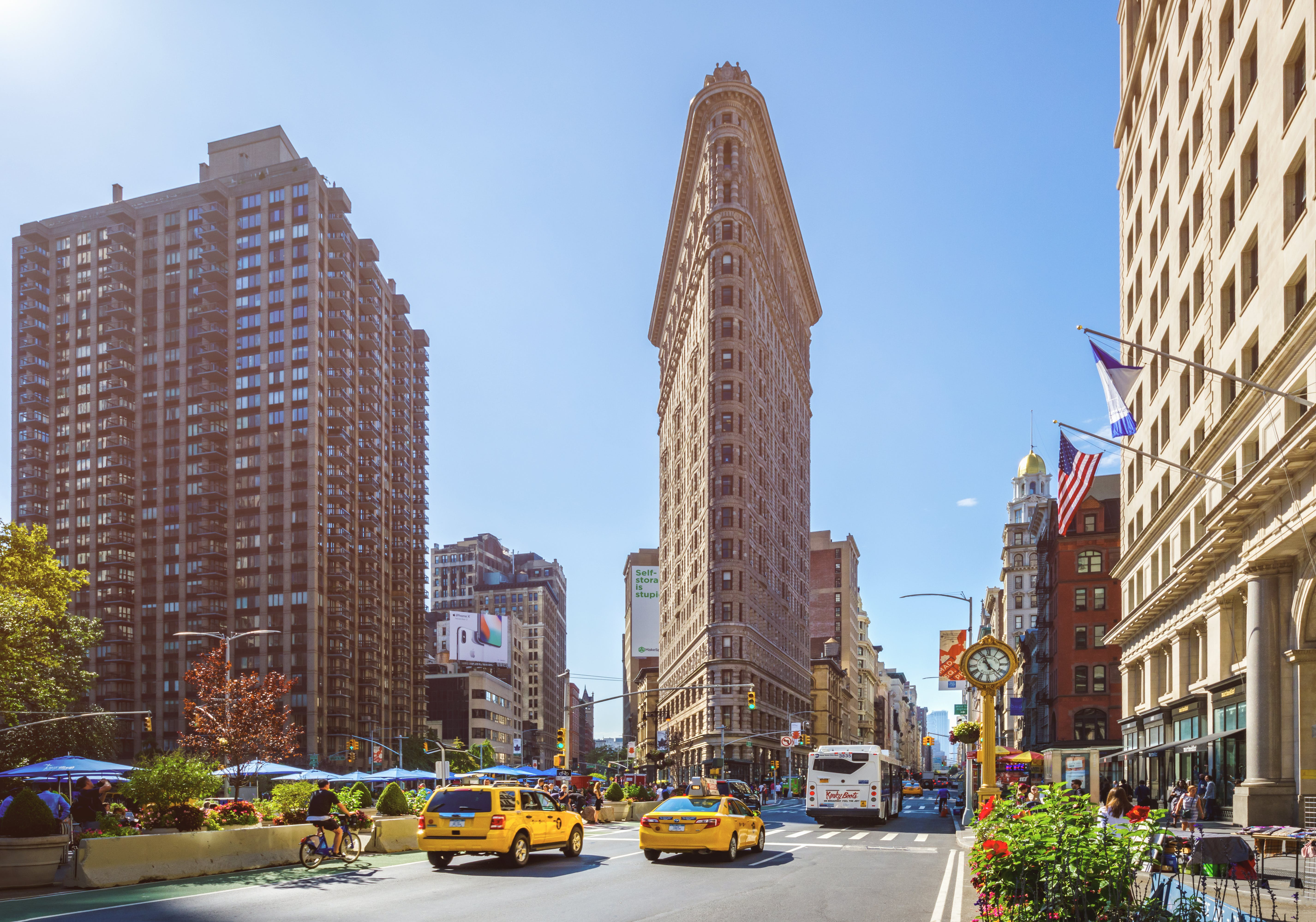 Flatiron Building op de hoek van Broadway en 5th Avenue
