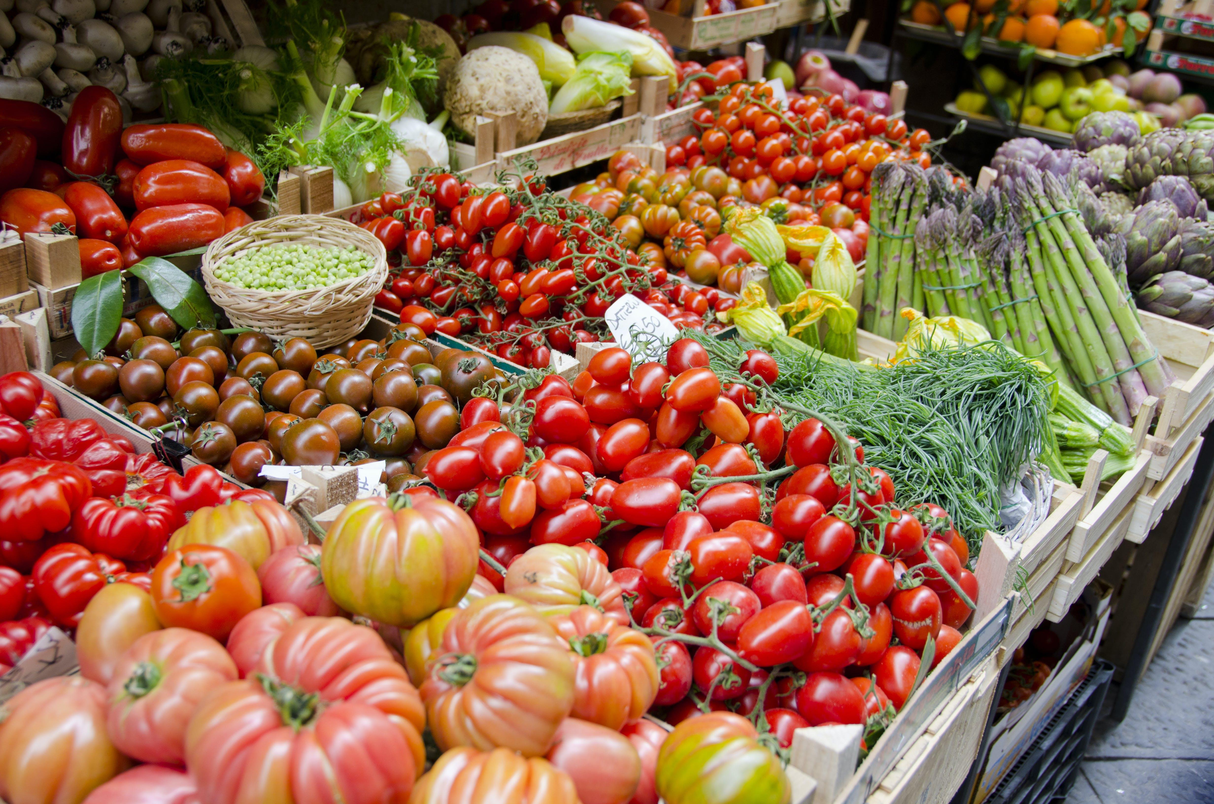 Op de markt van San Giovanni di Dio vind je  heerlijke verse groenten en fruit