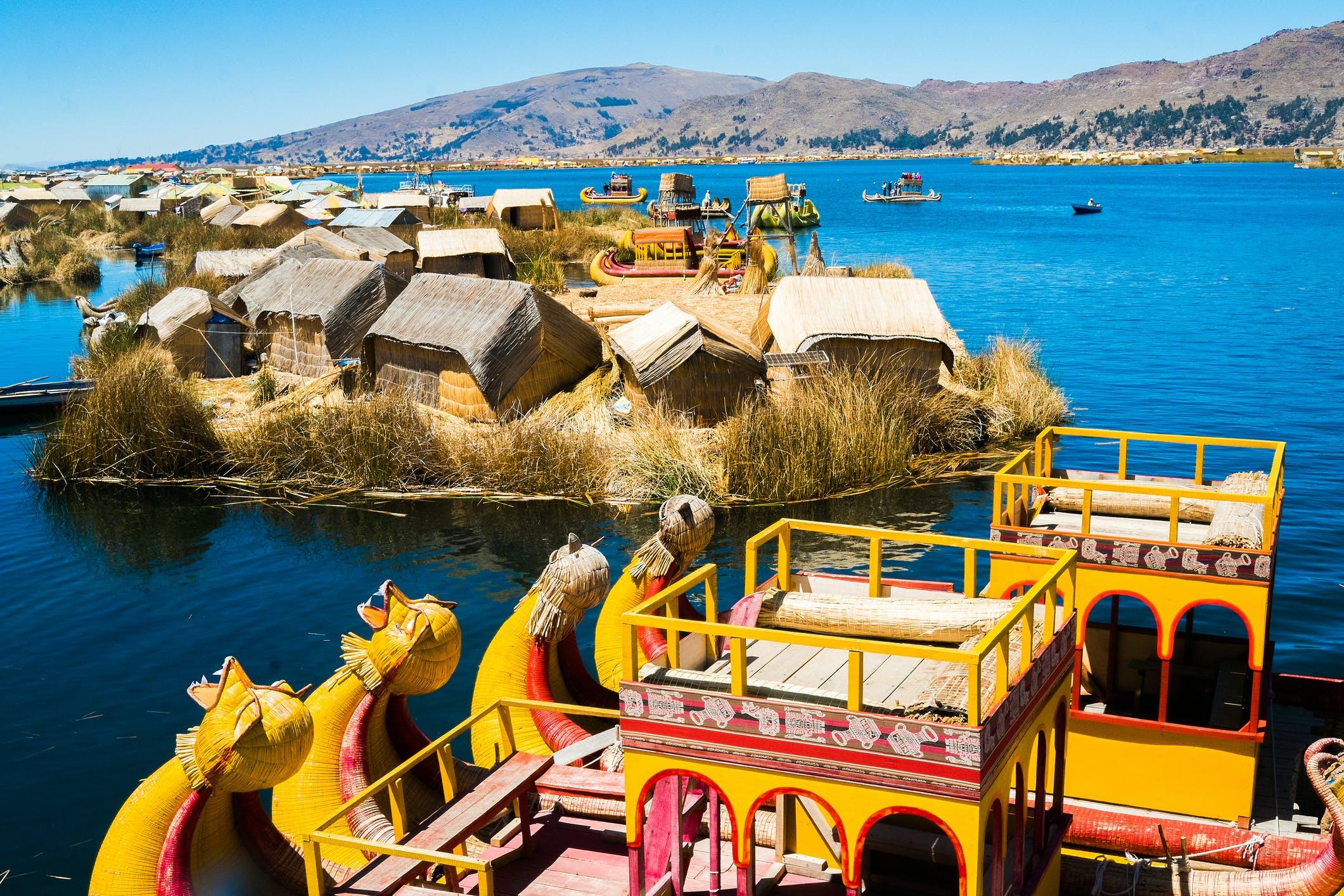 Bezoek de drijvende eilanden van Uros en het eiland Taquile