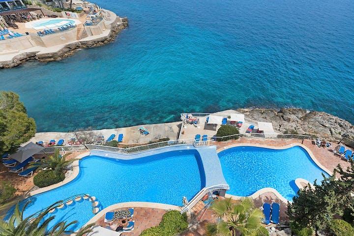 Aerial Pool, Roc Illetas, Mallorca