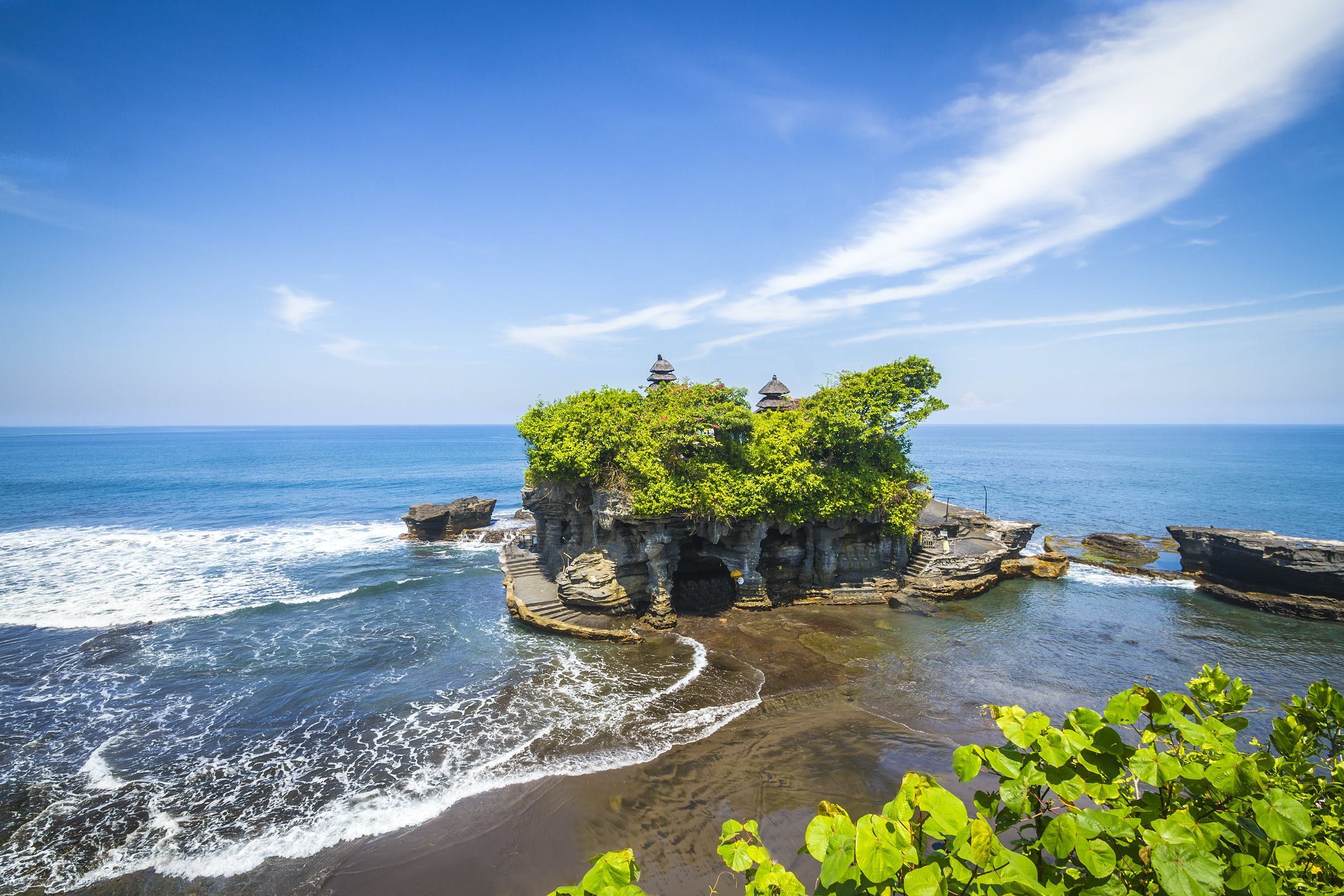 De wondermooie tempel Tanah Lot