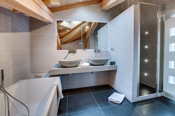 Ensuite room, Chalet No. 8, Morzine, French Alps